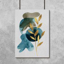 Plakat z motywem rośliny do salonu