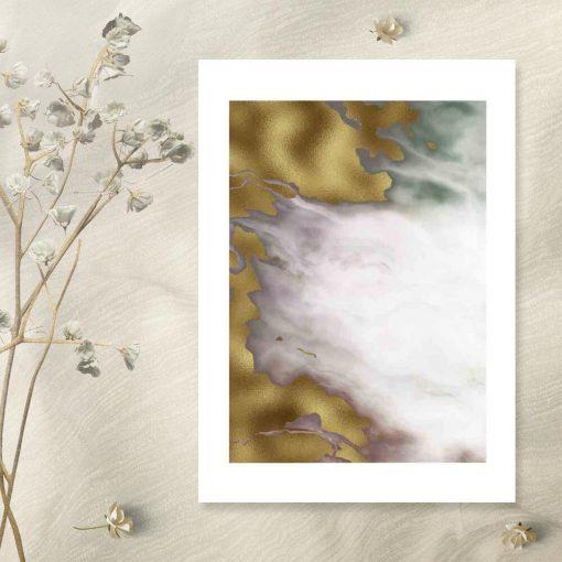 Plakat z abstrakcją z marmuru do sypialni