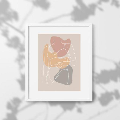 Plakat z sylwetką kobiety do sypialni