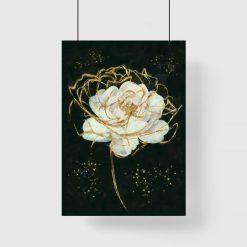 Plakat z motywem kwiatowym
