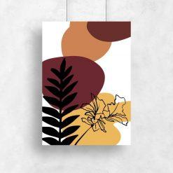 Plakaty w ciepłych kolorach z abstrakcją