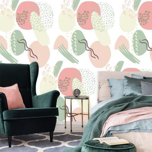 Fototapeta do sypialni - Pastelowa abstrakcja