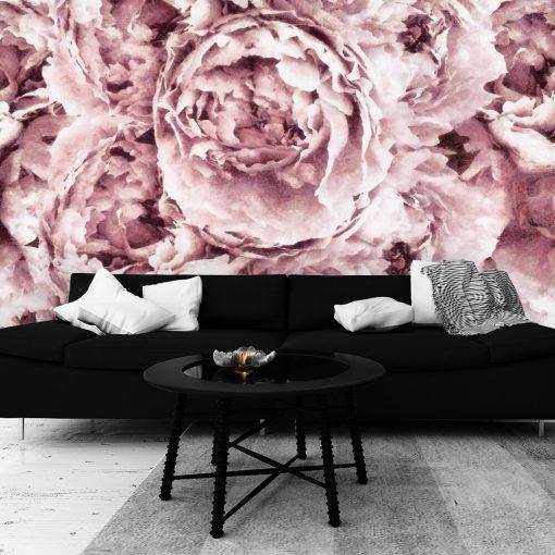 Botaniczna tapeta - Piwonie do salonu