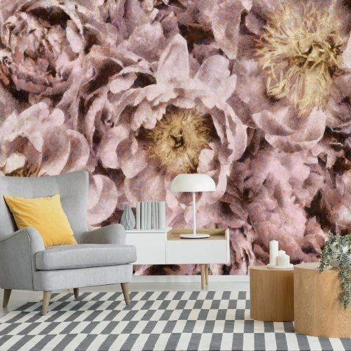 Foto-tapeta z motywem kwiatów do przedpokoju