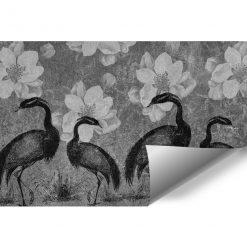 Fototapeta z żurawiami do przedpokoju