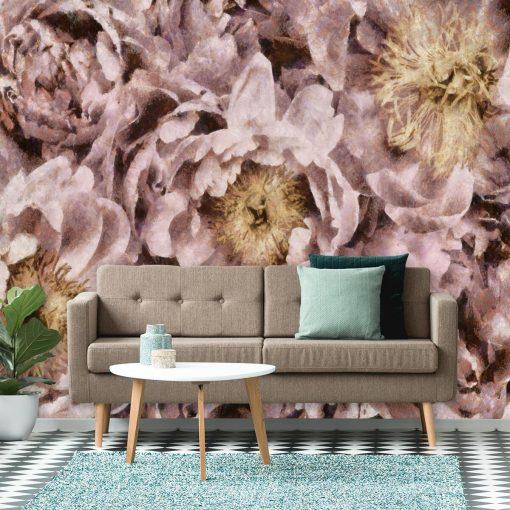 Foto-tapeta z motywem kwiatów do salonu