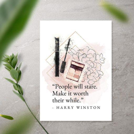 Plakat do sypialni - Cytat Harry'ego Winstona