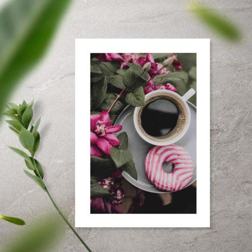 Plakat z kawą do sypialni