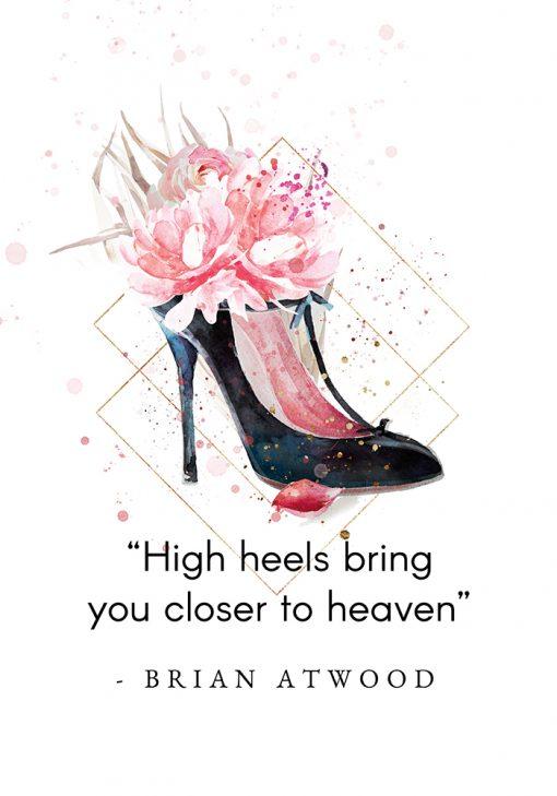 Plakat z typografią - High heels