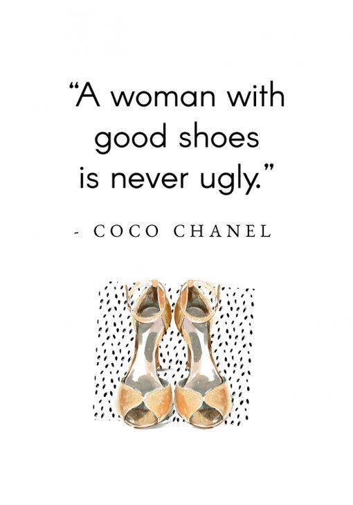 Plakat Coco Chanel - Cytat o butach