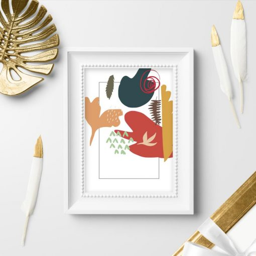 Plakat z motywem kolorowej abstrakcji do salonu