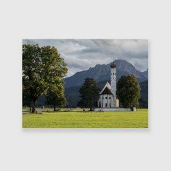 Obraz z kościołem w Schwangau do pokoju