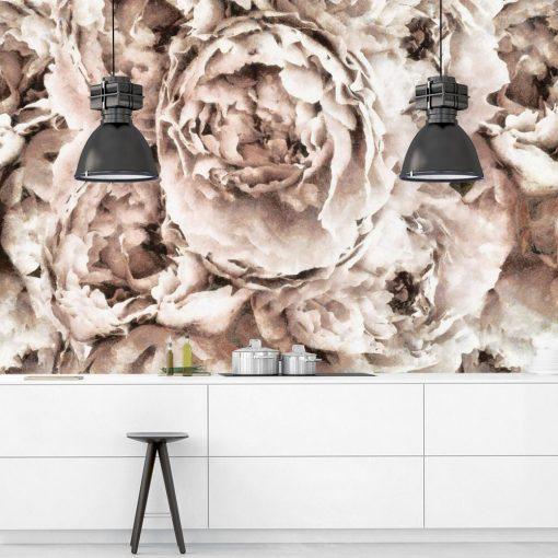 Tapeta - Eleganckie kwiaty do kuchni