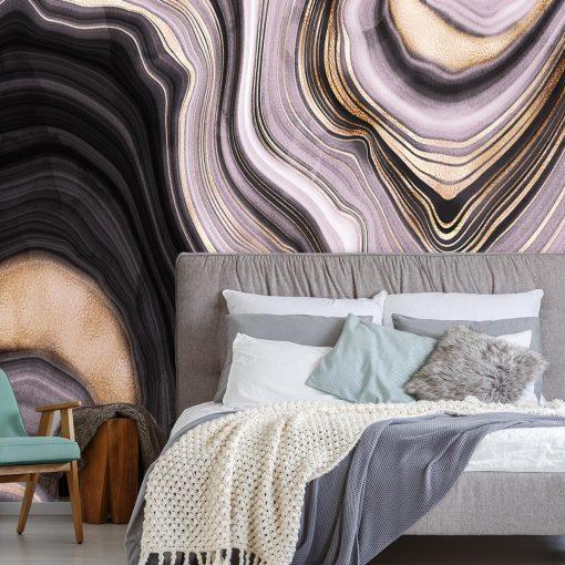 Fototapeta z falistą abstrakcją do sypialni