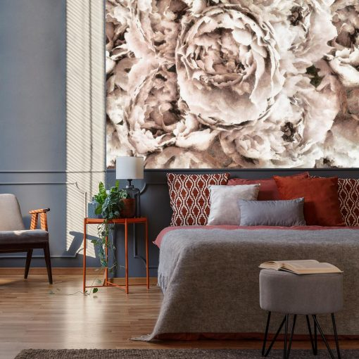 Tapeta - Eleganckie kwiaty do sypialni