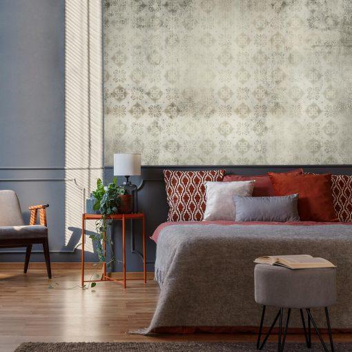 Foto-tapeta do sypialni - Beżowy wzór