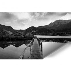 Tapeta z domkami na jeziorze do pokoju