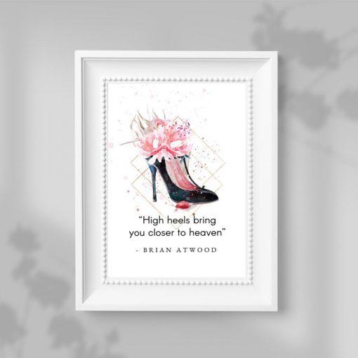 Plakat typograficzny do salonu - High heels