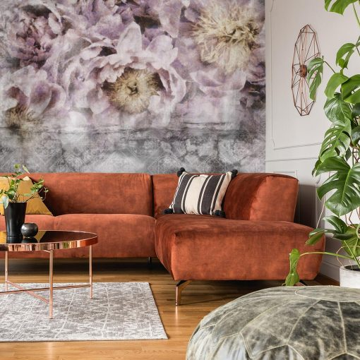Tapeta do pokoju - Kwiaty i orientalny wzór