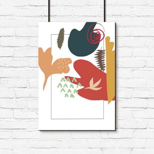 Plakat z motywem kolorowej abstrakcji do pokoju