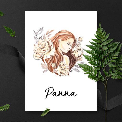 Plakat do pokoju - Panna