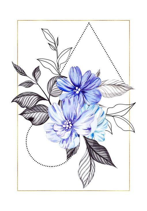 Plakat - Motyw kwiatowy