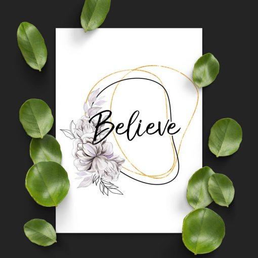 Plakat na prezent - Believe