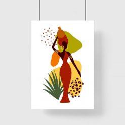 Plakat do salonu - Kobieta i abstrakcja