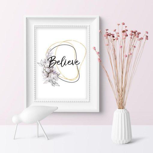 Plakat do pokoju - Believe