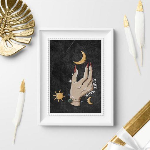 Plakat do sypialni - Make magic