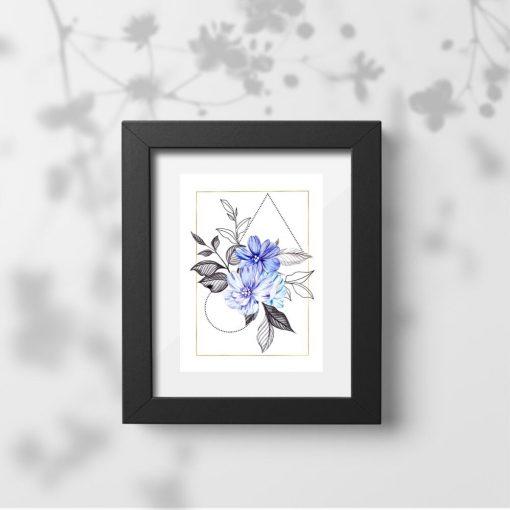 Plakat do biura - Motyw kwiatowy