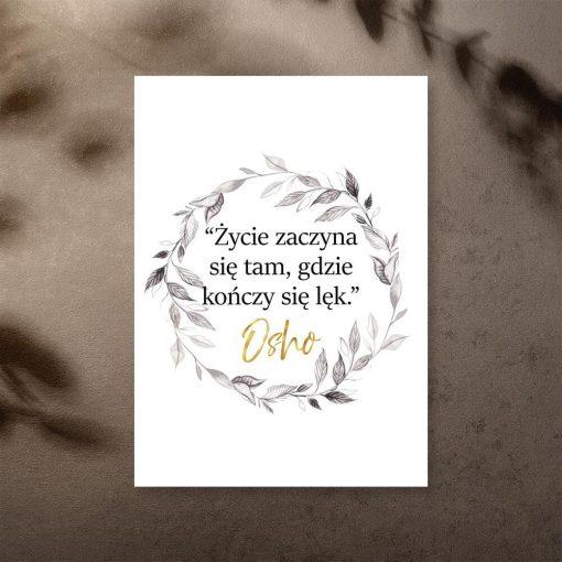 Plakat z cytatem Osho do przedpokoju