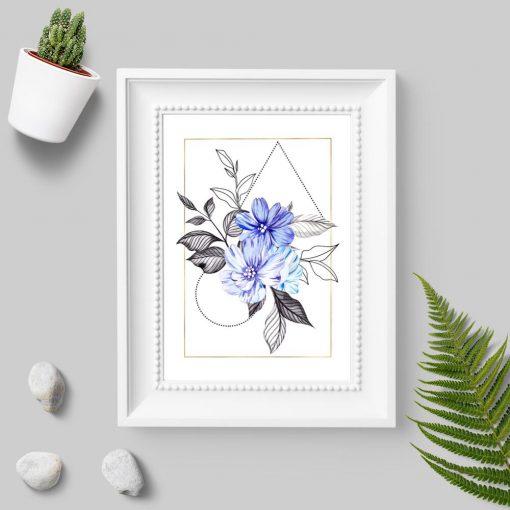 Plakat do sypialni - Motyw kwiatowy