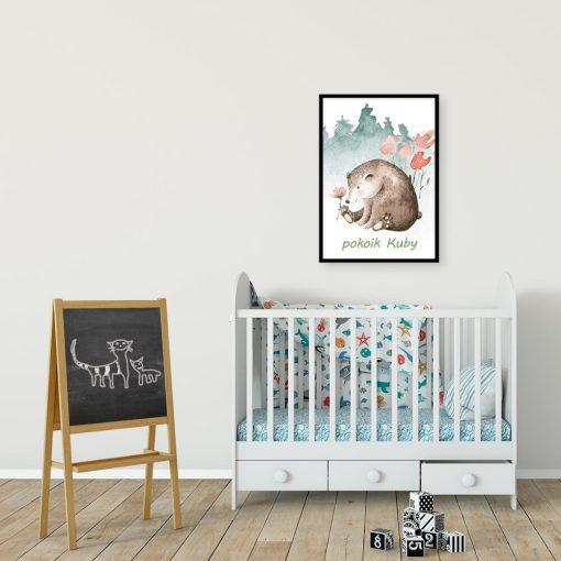 Plakat z metryczką do pokoju chłopca