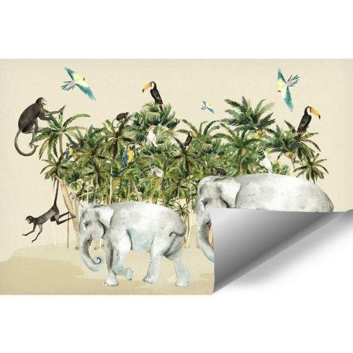 dziecięca tapeta z lemurem w dżungli