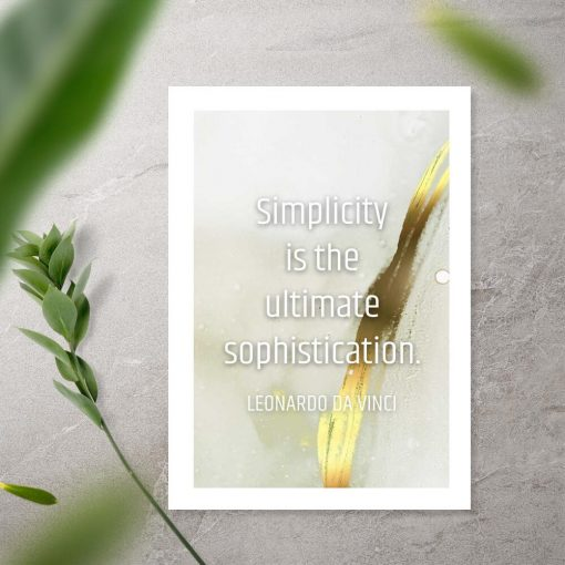 Plakat do ramy simplicity is the ultimate sophistication