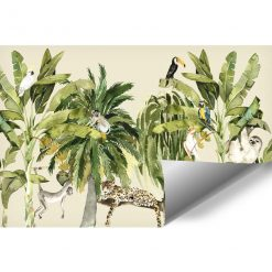 wesoła dżungla- fototapeta do pokoju przedszkolaka