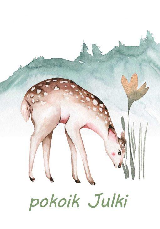 Personalizowany plakat z napisem - Pokoik Julki