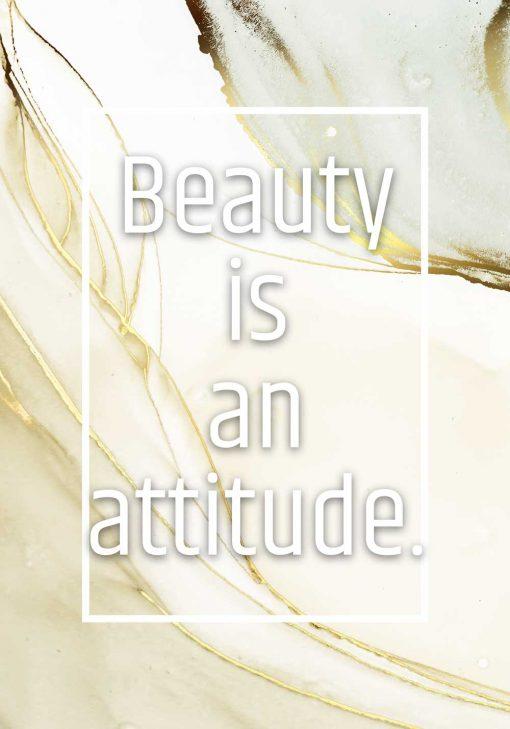Plakat do salonu beauty is an attitude