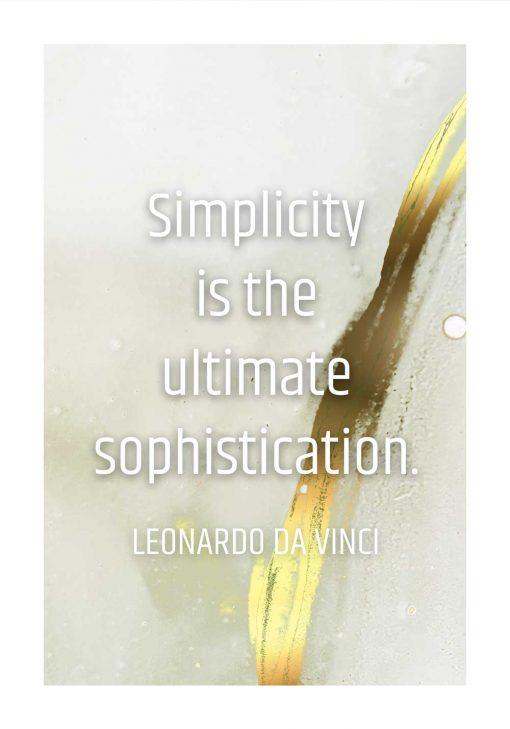 Plakat cytat da Vinci