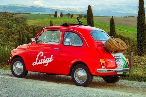 Obraz - Czerwone auto