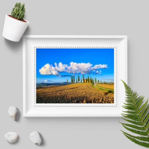 Plakat z willą w Toskanii do biura podróży