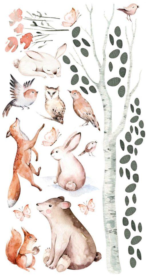 beżowe króliczki- naklejki dla dzieci