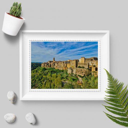 Plakat z miasteczkiem Pitigliano do sypialni