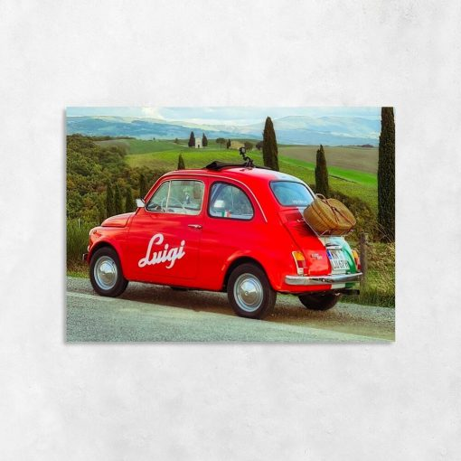 Obraz do przedpokoju - Czerwone auto