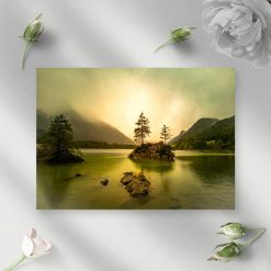 Obraz z jeziorem Untreusee do salonu