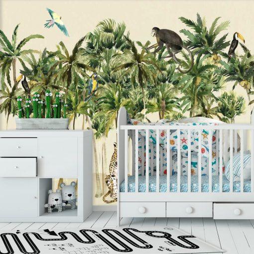 dżungla na foto-tapecie do pokoju dziecka