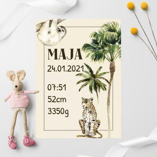 plakat z imieniem dla dziecka