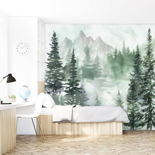 Zielony las - Fototapeta dla nastolatków