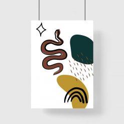 Plakat do poczekalni z motywem abstrakcji i węża